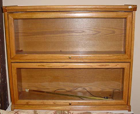 Vintage 2 Shelf Lawyer Bookcase W Glass Doors M