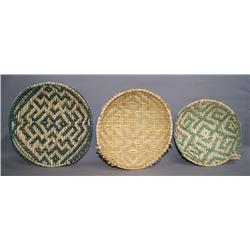 3 HOPI BASKETS