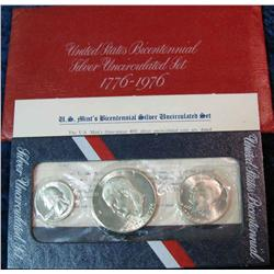 7. 1976 S Silver Three-Piece U.S. Mint Set. Original as issued.