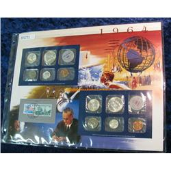 33. 1964 U.S. Mint Set in a special display page.