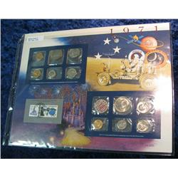 40. 1971 U.S. Mint Set in a special display page.