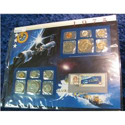 44. 1975 U.S. Mint Set in a special display page.
