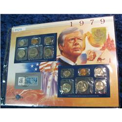 49. 1979 U.S. Mint Set in a special display page.