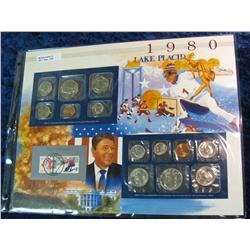50. 1980 U.S. Mint Set in a special display page.