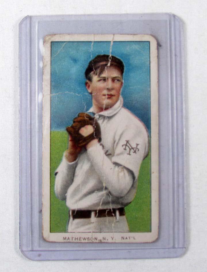 1909 1911 T206 Christy Mathewson Baseball Card W