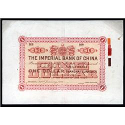 China - Empire - Imperial Bank of China, 1898 Dollar Issue, Shanghai Branch.