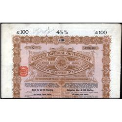 China - Bonds - Chinese Imperial Government 4 1/2% Gold Loan of 1898.