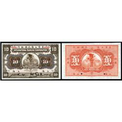 China - Foreign Banks - International Banking Corporation, 1905 Shanghai Issue.