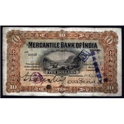 China - Foreign Banks - Mercantile Bank of India, 1916 Issue.