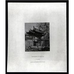 "China - Proof Vignettes - ""Entrance To Temple"" Proof Vignette From ABNC Archives."