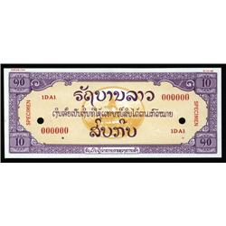 Laos - Free Lao Government, 1948 Essay Banknote Specimen .