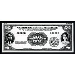 Philippines - Central Bank of the Philippines, 1949 (1953) Issue Photo-Proof Essay Banknotes by SBNC