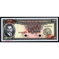 Philippines - Central Bank of the Philippines, 1949 ND Issue Specimen.