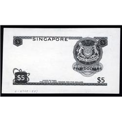 Singapore - Singapore, Board of Commissioners of Currency Progress Proof.