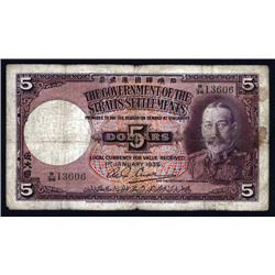 Straits Settlements - Government of the Straits Settlements, 1935 Issue.
