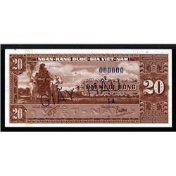 South Viet Nam - National Bank of Viet Nam 1962 ND Issue Specimen.