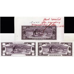 South Viet Nam - National Bank of Viet Nam, 1955-58 ND Second Issue, Essay Progress Proof Trio.