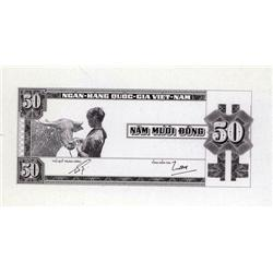 South Viet Nam - National Bank of Viet Nam, 1955-58 ND Second Issue, Essay Progress Proof.