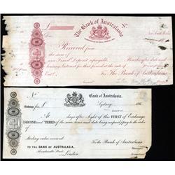 Australia - Bank of Australasia Proof Sight Draft and Exchange.