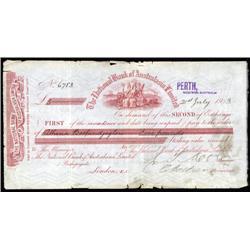 Australia - National Bank of Australasia Ltd, Bill of Exchange.
