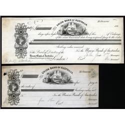 Australia - Union Bank of Australia Proof Draft and Exchange Pair.