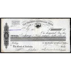 Australia - Western Australian Bank Bill of Exchange.