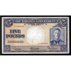 Bahamas - The Bahamas Government 1936 Currency Note Act, Banknote.