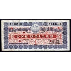 British Honduras - Government of British Honduras, 1895 Issue Banknote.