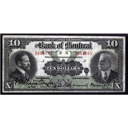 Canada - Bank of Montreal, 1914 Issue.