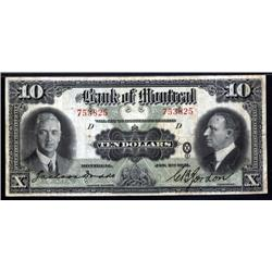 Canada - Bank of Montreal, 1931 Issue.