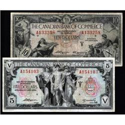 Canada - Canadian Bank of Commerce, 1935 Issue Banknote Pair.