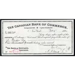 Canada - Canadian Bank of Commerce, 2nd of Exchange.