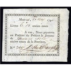 Canada - Dobie and Badgley, Montreal Private Scrip From 179(0?).