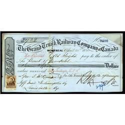 Canada - Grand trunk Railway Company of Canada Draft.