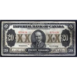 Canada - Imperial Bank of Canada, 1923 Issue Banknote.