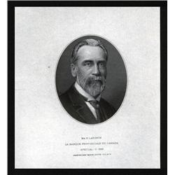 Canada - La Banque Provinciale Du Canada, Proof Vignette of Mr. H. Laporte.