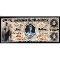 Canada - Colonial Bank of Canada, 1859 First Issue.