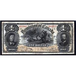 Canada - Dominion of Canada, 1898 Inward One's Issue Banknote.