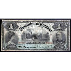 Canada - Dominion of Canada, $4, 1900 Issue.