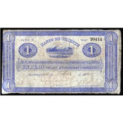 Colombia - Banco De Oriente, Colombia, 1884-1900 Issue.