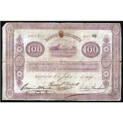 Colombia - Banco de Oriente, 100 Pesos, 1884-1900 Issue.