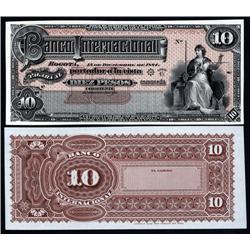Colombia - Banco Internacional, 1884 Issue Proof Banknote.