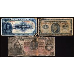 Colombia - Colombia Banknote ABNC Reference Counterfeit Banknote Group Trio.