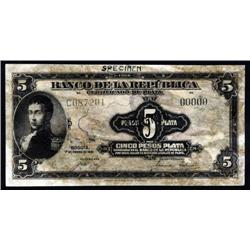 Colombia - Colombia Banknote ABNC Reference Counterfeit Banknote Research Specimen.