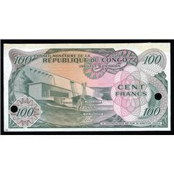 Congo Democratic Republic - Republique Du Congo, Conseil Monetaire De La Rep.Du Congo Specimen.