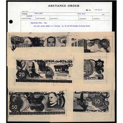 Costa Rica - Banco Central De Costa Rica ABNC Archival Production Correspondence With Essay Designs.