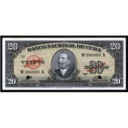 Cuba - Banco Nacional De Cuba, 1960 Issue, Che Guevara Signature on Specimen Banknote.