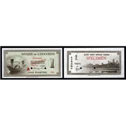 French Indo-China - Banque De L'Indochine, 1945 ND Issue.