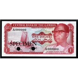 Gambia - Central Bank of the Gambia, 1971; 1972 ND Issue Color Trial.