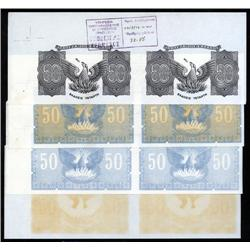 Greece - Occupation - Bank of Greece 1941 Inflation Issue Progress Proof Pairs.